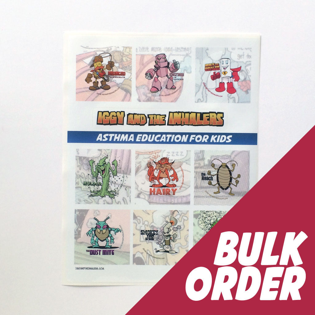Character sticker sheets bulk order iggy and the inhalers
