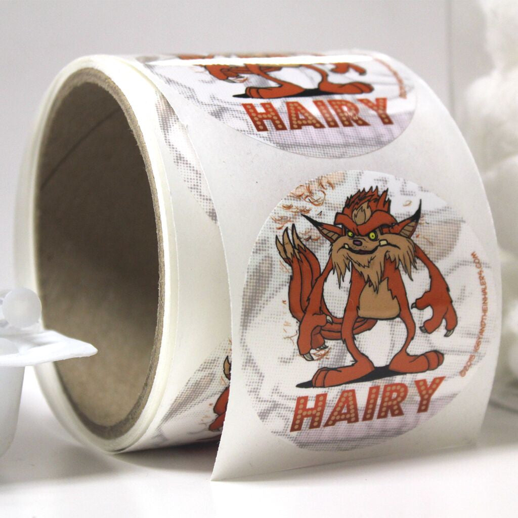 Character Sticker Roll (50 stickers) - Hairy