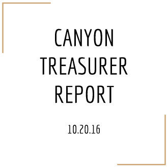 Treasurer Report 10.20.16