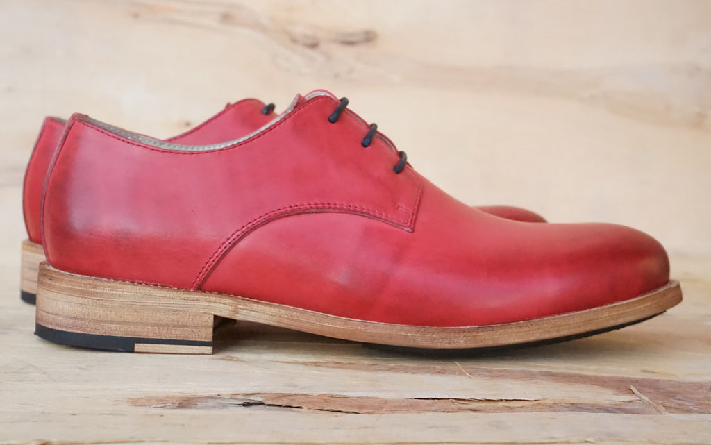 Nokwal Oxford Shoes - Red - Nokwal