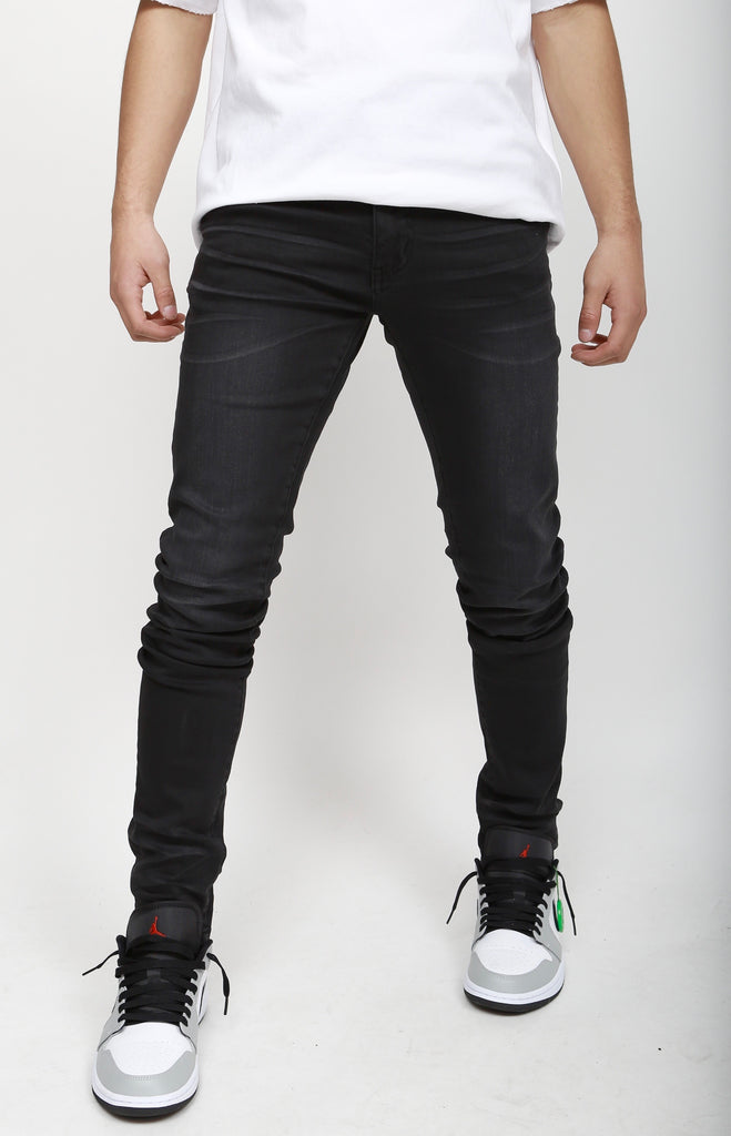 Nokwal Faded Black Skinny Denim