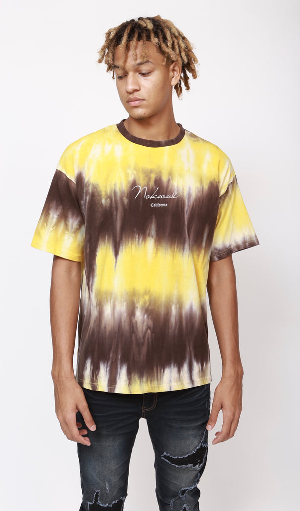 Yellow/Brown Tie Dye T Shirt