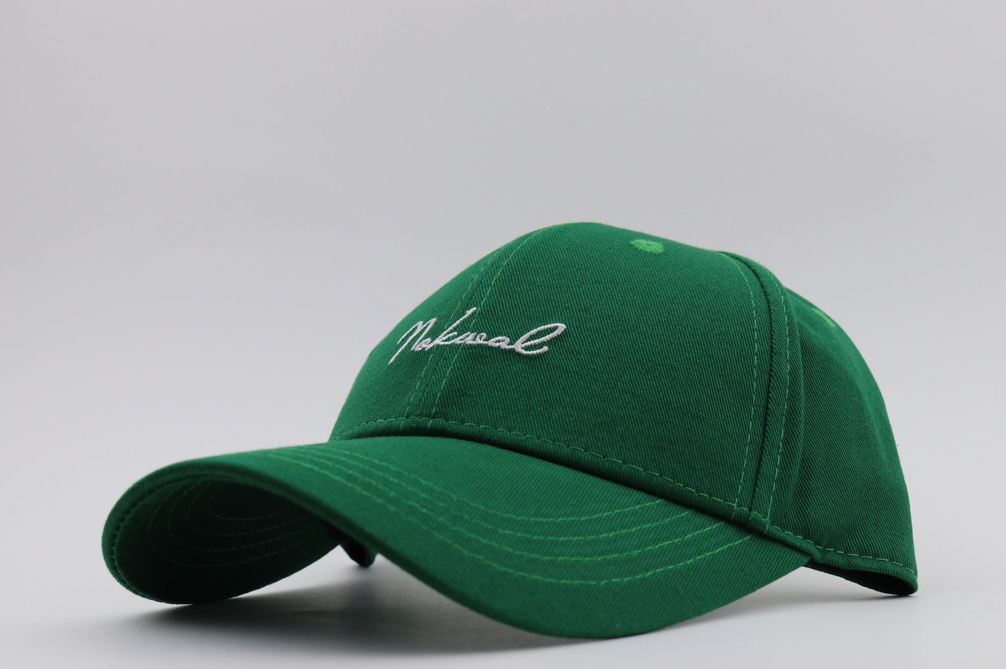 NOKWAL Hat - Leaf Green 6 Panel StrapBack - Nokwal