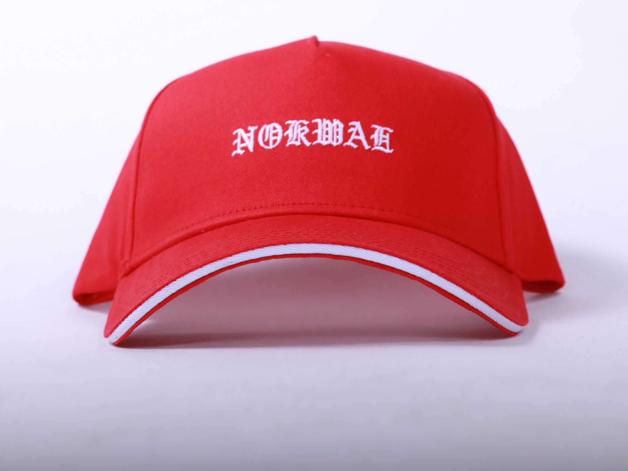 """Nokwal"" Snapback- 5 Panel - Red - Nokwal"