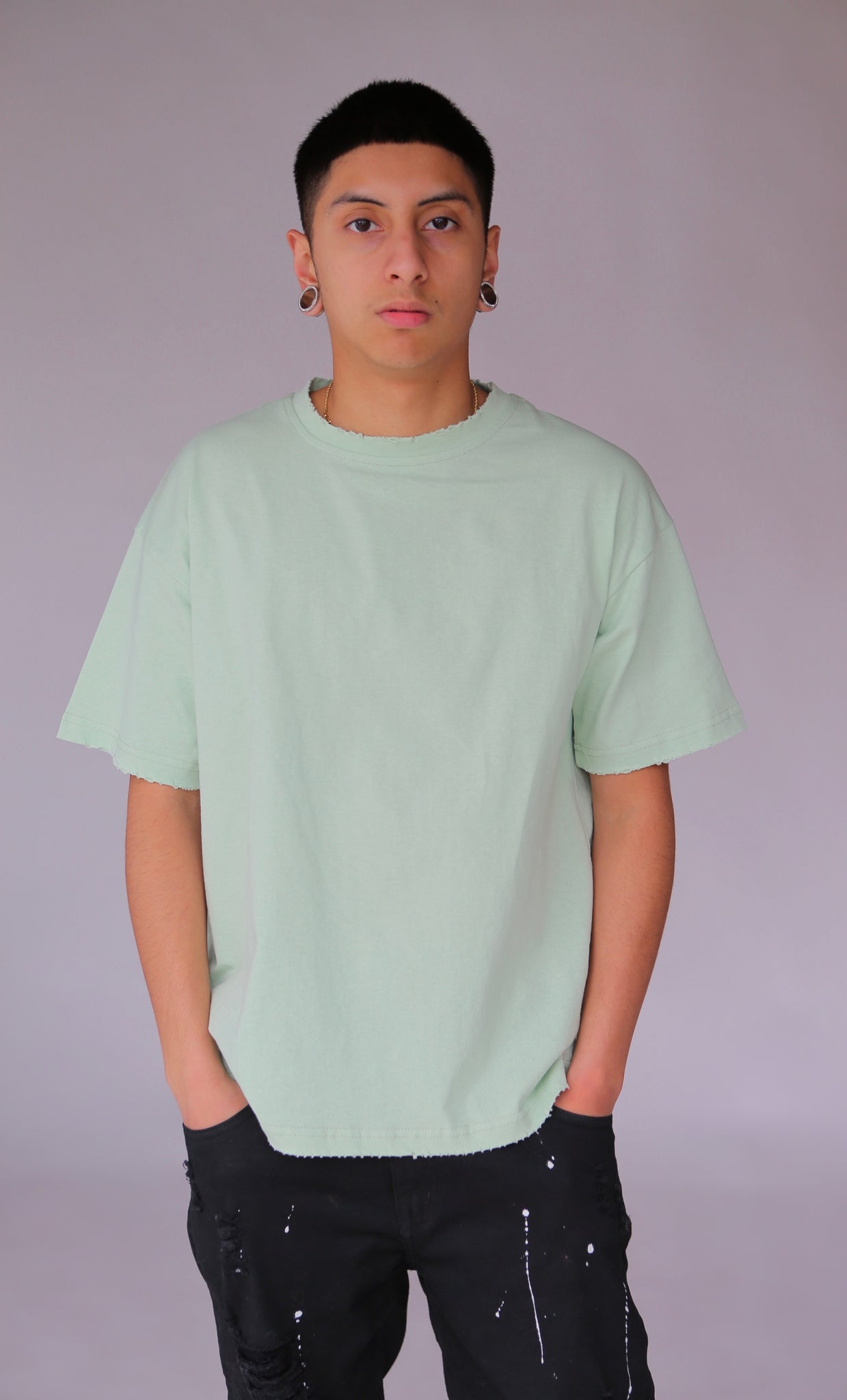 Classic Drop Shoulder Tee - Mint Green - Nokwal
