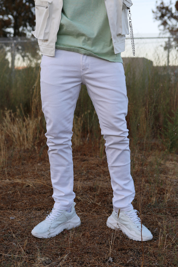 White Skinny Fit Denim