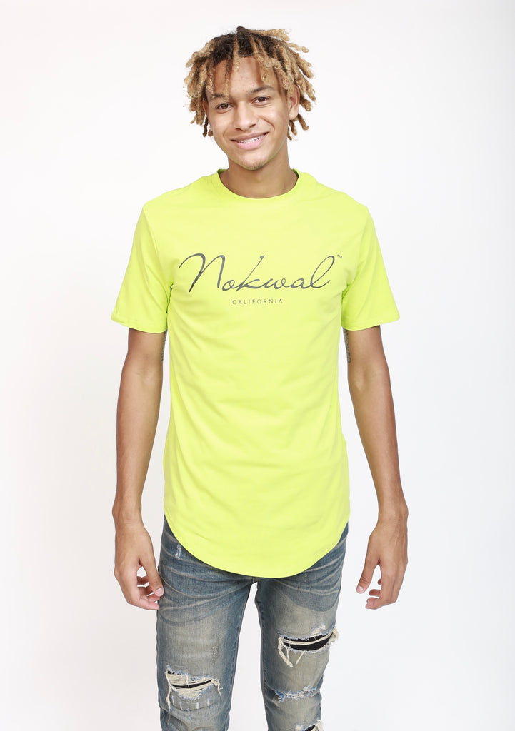 Lime Green T-Shirt w/ Black Nokwal Signature