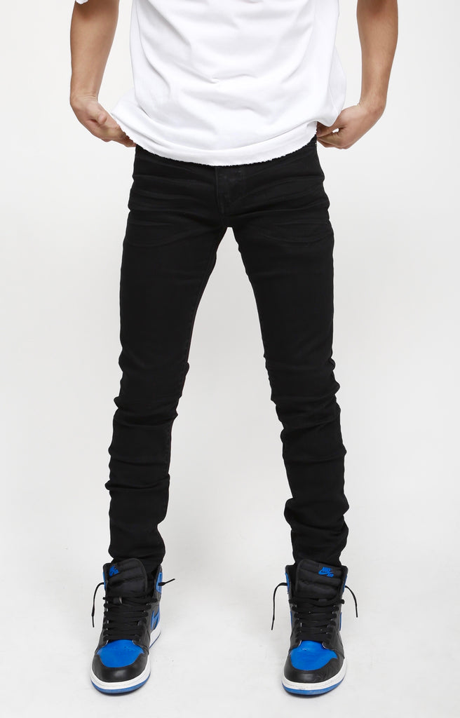 Nokwal Jet Black Skinny Denim