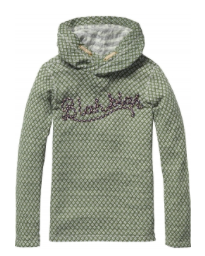 Scotch and Soda Bonded Sweater with Twist Hood