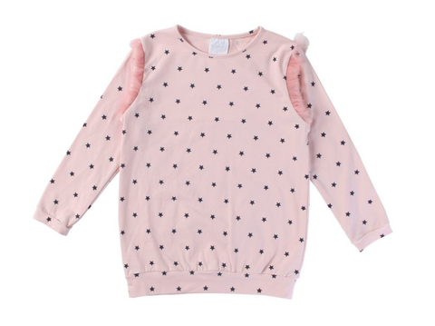 Alex & Ant Stars Long Tee -Pink