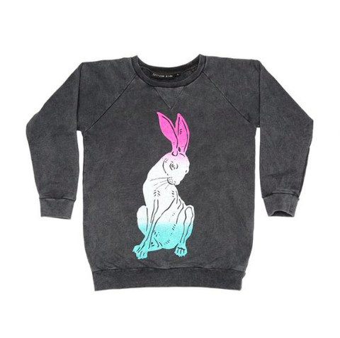 Zuttion Rabbit Baby Sweater - Charcoal