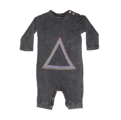 Zuttion Triangle Long Onesie - Charcoal