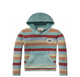 Colourful stripe knitted hoody - Scotch & Soda