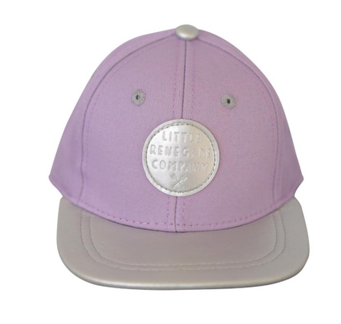 Little Renegade Company Cap - Lilac And Silver