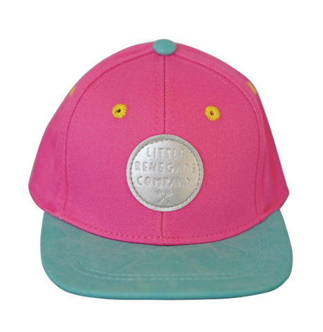 Little Renegade Company Cap - Pink And Green