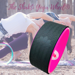 Pink Black Yoga Wheel