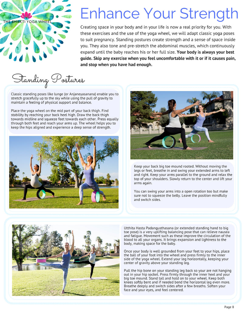 Shakti Yoga Wheel® Guide (e-book) - Enjoy Your Pregnancy With An Open Heart - The Shakti Yoga Wheel