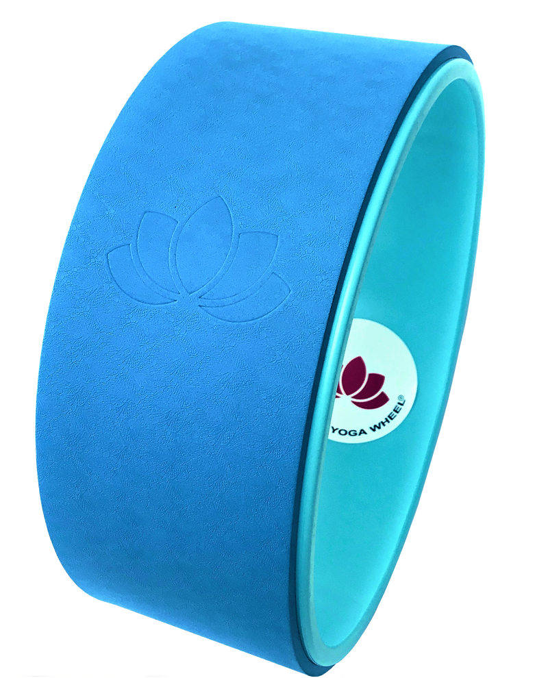 Blue Yoga Wheel Imprint