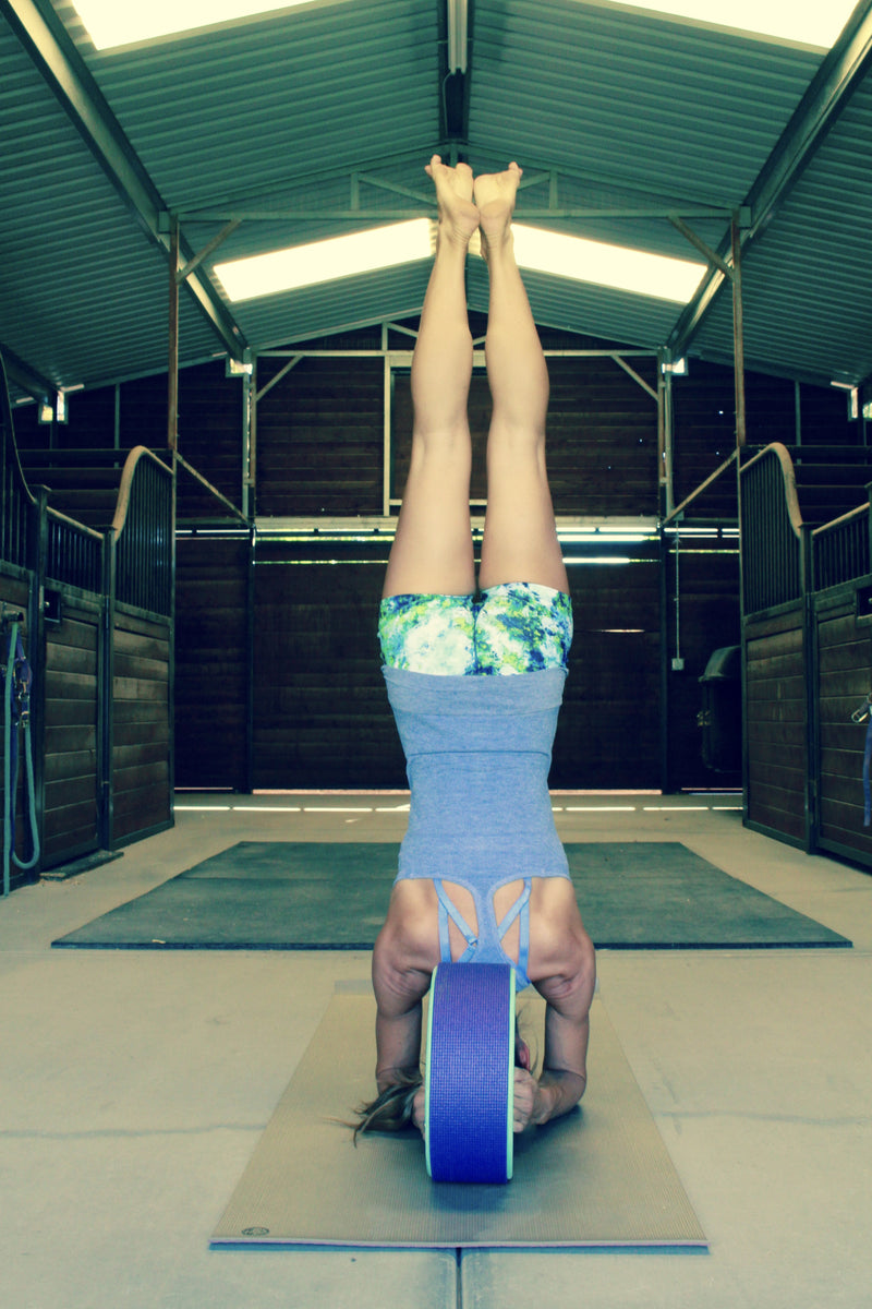 Yoga Wheel Pose - headstand