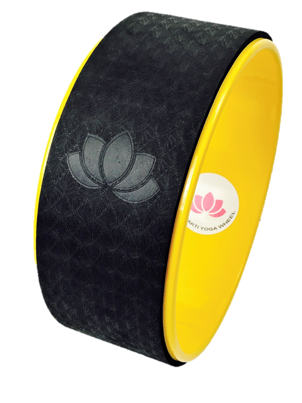 Black and Yellow Yoga Wheel