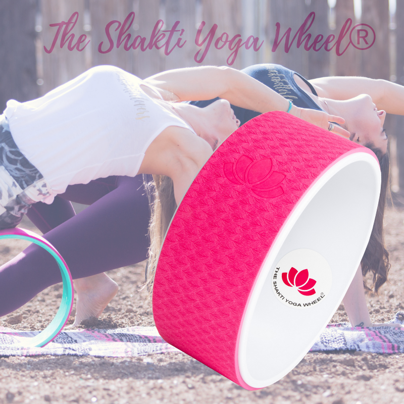 Raspberry Pink Yoga Wheel Imprint