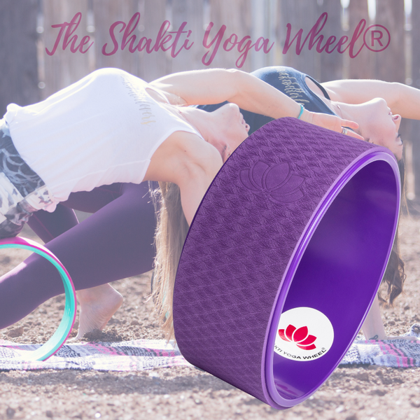 Purple Purple Yoga Wheel Imprint