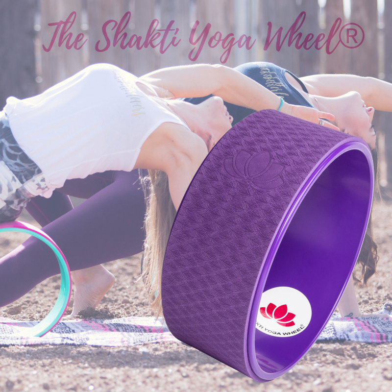 Purple Yoga Wheel Imprint