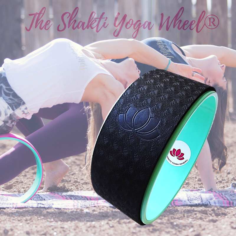 Black Yoga Wheel Imprint - The Shakti Yoga Wheel