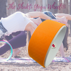 Orange White Yoga Wheel Imprint - The Shakti Yoga Wheel