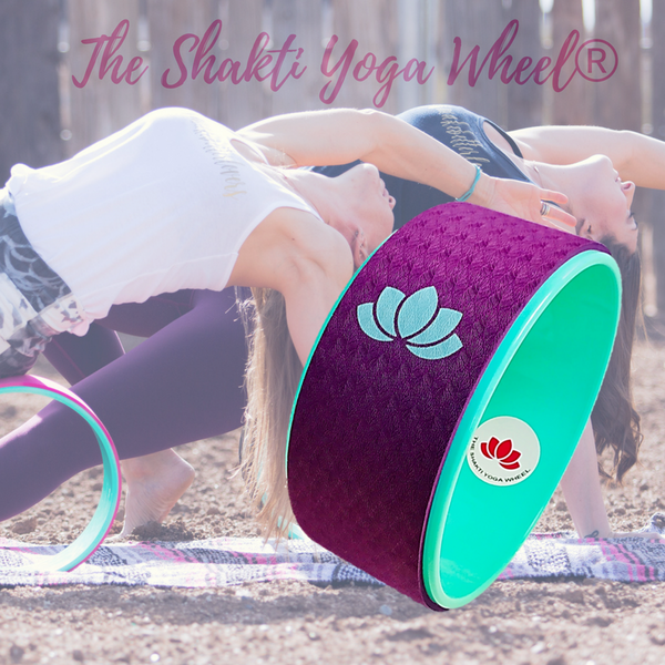 Purple Yoga Wheel with Green Lotus - The Shakti Yoga Wheel