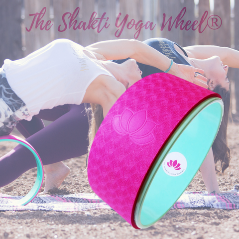 Pink Yoga Wheel Imprint