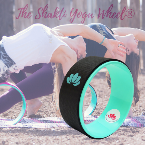Black Yoga Wheel Green Lotus