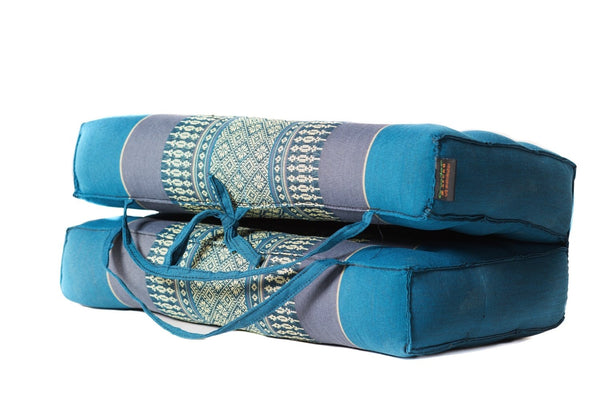 Large Foldable Cushion Teal/Blue