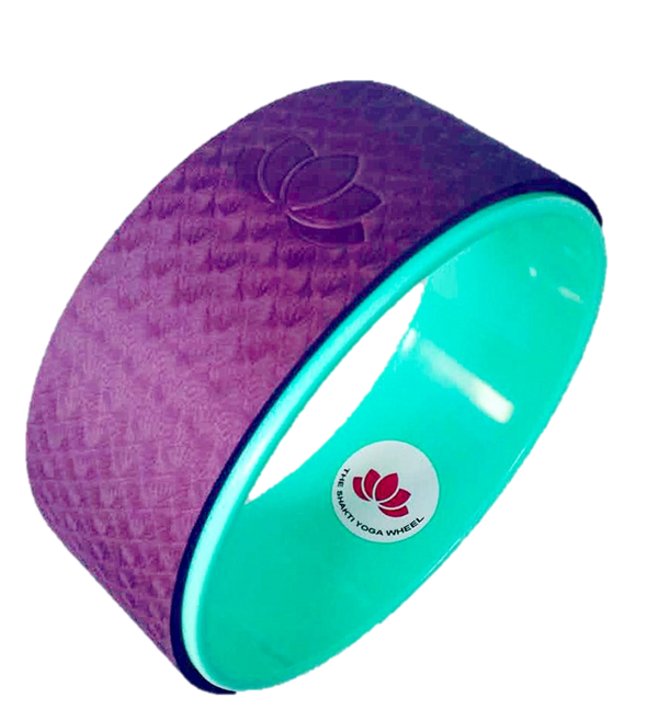Purple Yoga Wheel with Imprint