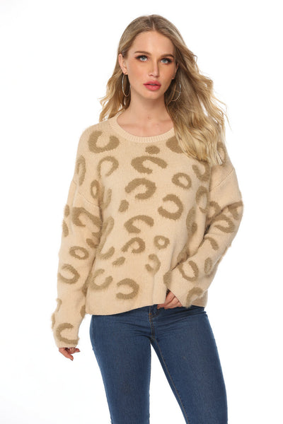 Casual Cream & Beige Knit Jumper