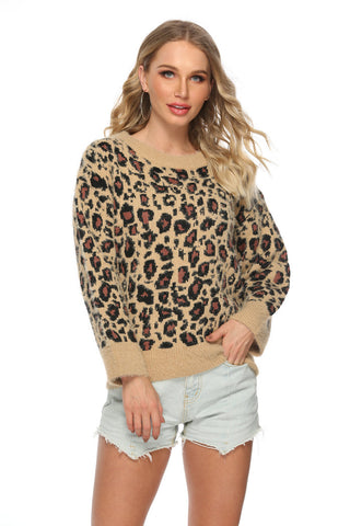 Roxsta Brown Abstract Animal Print Jumper