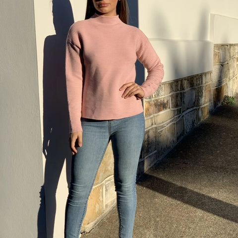 Roxsta Turtle Neck Blush Jumper