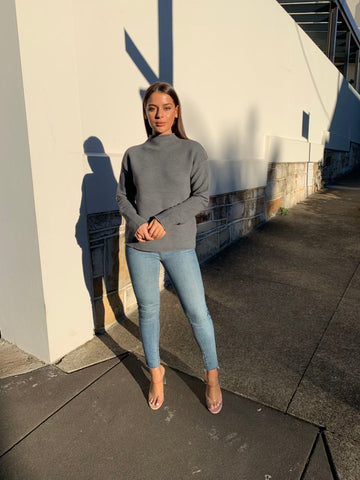 Roxsta Turtle Neck Grey Jumper