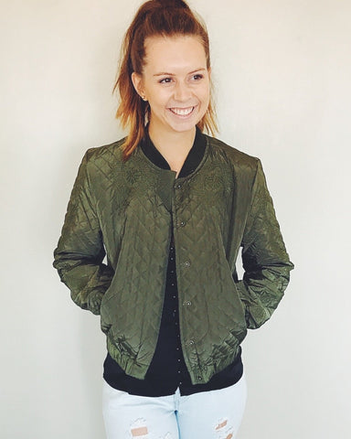 Roxsta Bombed Out Bomber Jacket