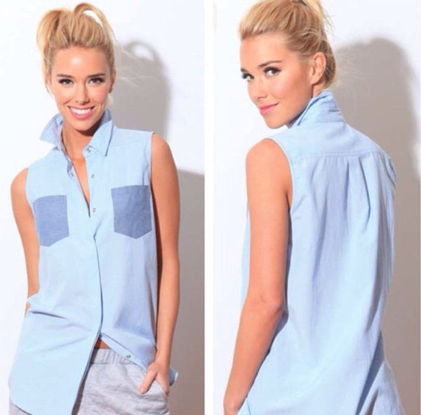 Chambray Top By Imonni