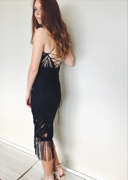 Khaleesi Midi Dress In Black
