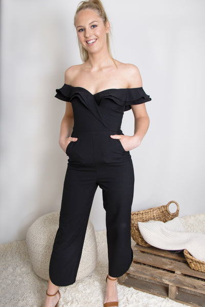 Roxsta Lovin' Life Jumpsuit In Black