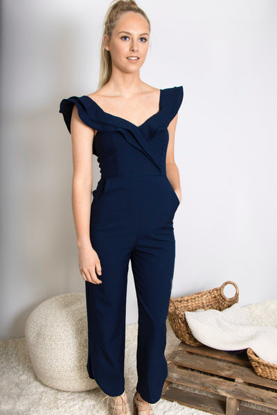 Lovin' Life Jumpsuit In Navy