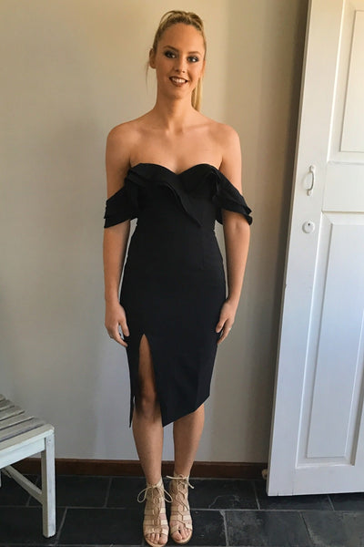 Lovin' Life Midi Dress In Black