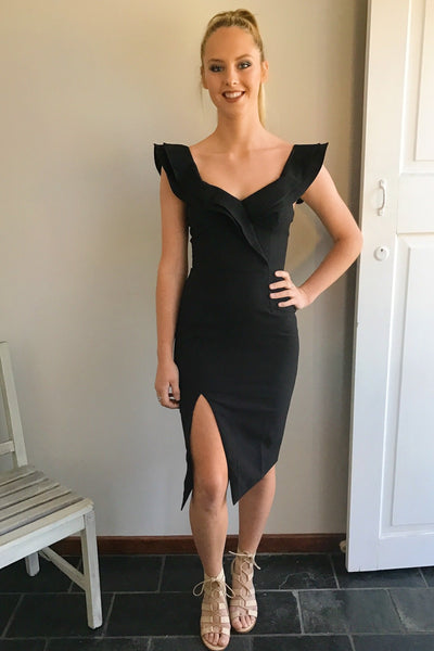 Roxsta Lovin' Life Midi Dress In Black