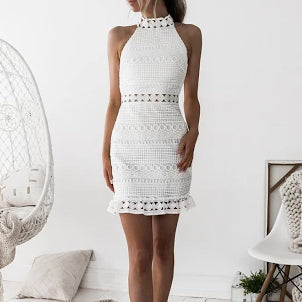 Roxsta Rivers Dress In White