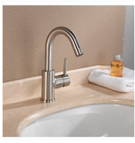 Buy Solid Brass Single Hole Lever Handle Bathroom Faucet - Zen Tap Sinks - 2