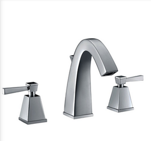 Buy Widespread Two Lever Handle Deck Mounted Bathroom Faucet - Zen Tap Sinks