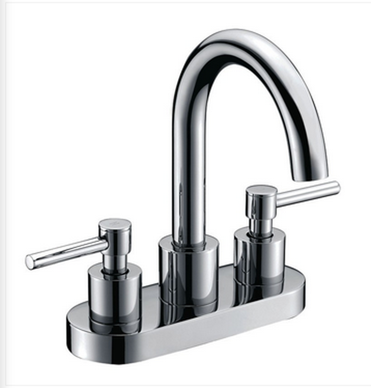 Buy Deck Mounted 2 Handle Centerset Lever Handle Bathroom Faucet - Zen Tap Sinks