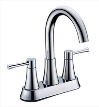 Buy Deck Mounted Centerset Bathroom Faucet with Goose Neck Spout - Zen Tap Sinks